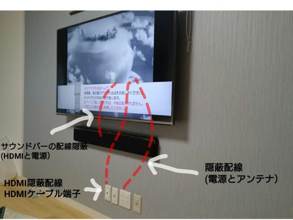 隠蔽配線の写真