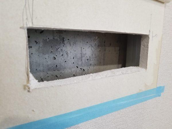 壁面補強作業の写真