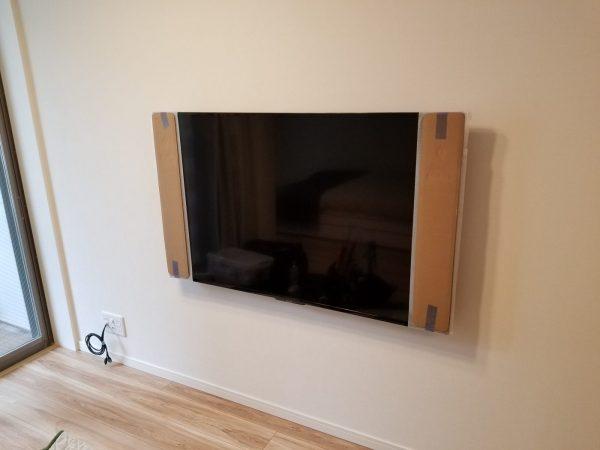 55型壁掛けテレビ完成写真