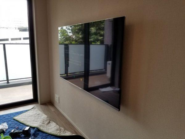 パナソニック55型壁掛けテレビ完了写真