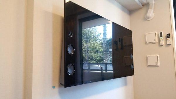 壁掛けテレビ完成の写真