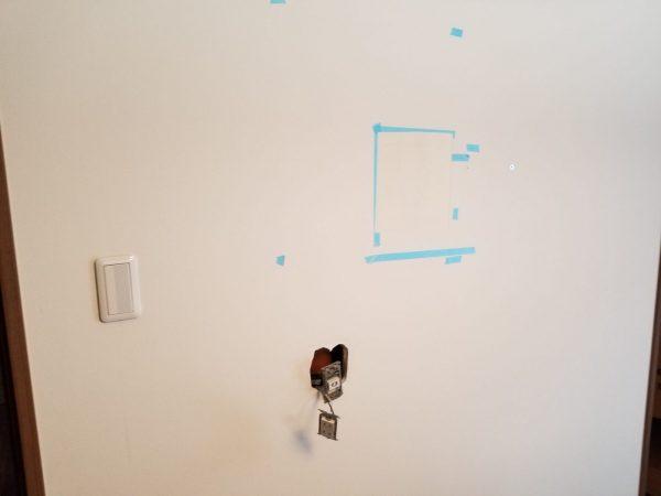 壁紙を剥がして移植