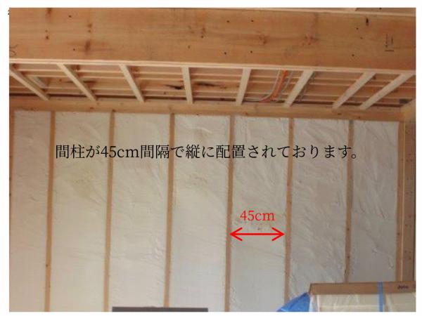 木造住宅外壁側の柱の写真