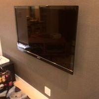 東京都渋谷区テレビの壁掛け工事 配線を隠しましたのサムネイル