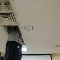 プロジェクター設置配線 東京都中央区オフィスにてのサムネイル