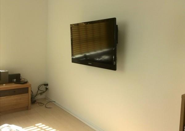 32インチテレビ壁掛け工事 神奈川県川崎市にてのサムネイル