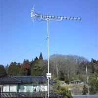 地デジアンテナ UHFブースター壁面/屋根馬設置 神奈川県藤沢市のサムネイル