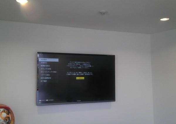 42インチTV壁掛け金具込み  GLコンクリート壁のサムネイル
