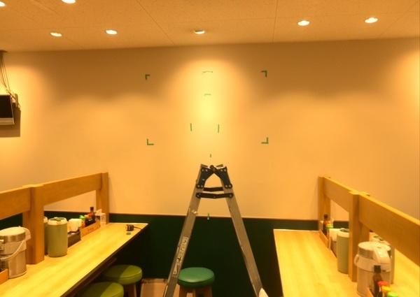 47型テレビ壁掛け工事 店舗にてのサムネイル