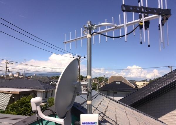 地デジアンテナ  BS CSアンテナ工事 神奈川県 藤沢市のサムネイル