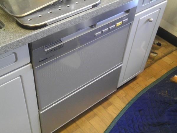 ビルトイン食洗機の設置 45cm ディープタイプ 収納棚の処分