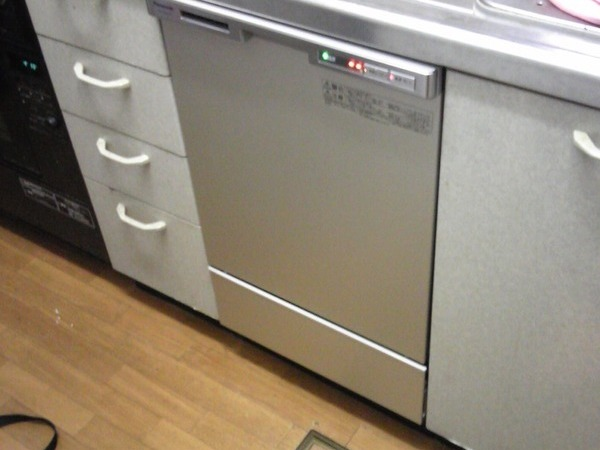 45cmビルトイン食洗機新規設置 東京都マンションにて