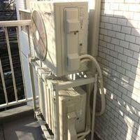 エアコン工事 内カバー 室外機2段置き金具 東京都新宿区にてのサムネイル