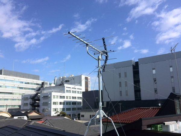 6世帯アパート 地デジアンテナ工事 東京都墨田区にて