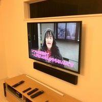 神奈川県海老名市にて 新築戸建て テレビ壁掛け工事 サウンドバー壁掛け配線隠蔽のサムネイル