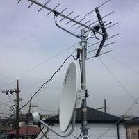 東京都墨田区にて 新築アパートアンテナ工事 地デジBS/CSのサムネイル