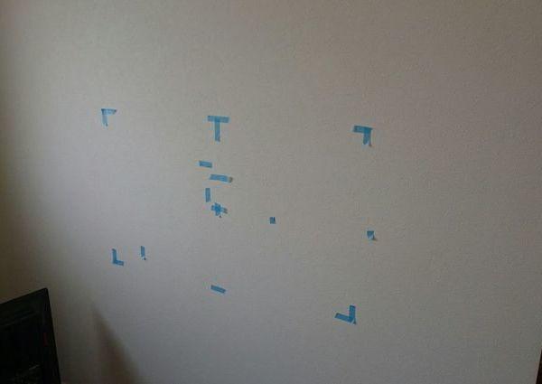 東京都中央区にて 42インチレグザ液晶テレビ壁掛け工事 隠蔽配線のサムネイル