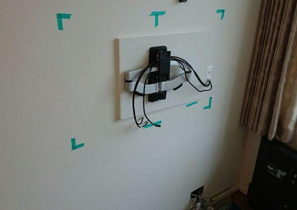 東京都目黒区マンションにて 50インチ液晶テレビ壁掛け工事のサムネイル