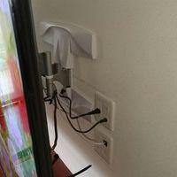 神奈川県川崎市にて 60インチテレビ壁掛け工事 入れ替え 補強済み 隠蔽配線のサムネイル