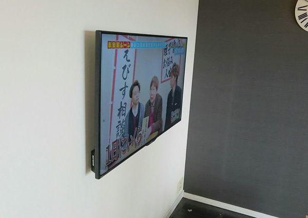 神奈川県横浜市マンションにて テレビ壁掛け工事 隠蔽配線のサムネイル