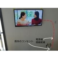 東京都台東区にて GL工法 32インチ壁掛け工事 配線隠蔽のサムネイル