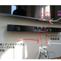 東京都戸建てにて 55インチテレビ壁掛け工事 補強なしの壁のサムネイル