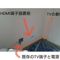 神奈川県横浜市にて 壁掛けテレビ配線 マンションのサムネイル