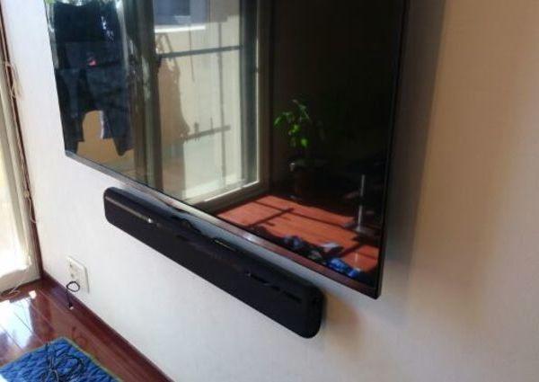 壁掛けテレビ 東京都江東区にて LG 55型 サウンドバー壁掛けのサムネイル