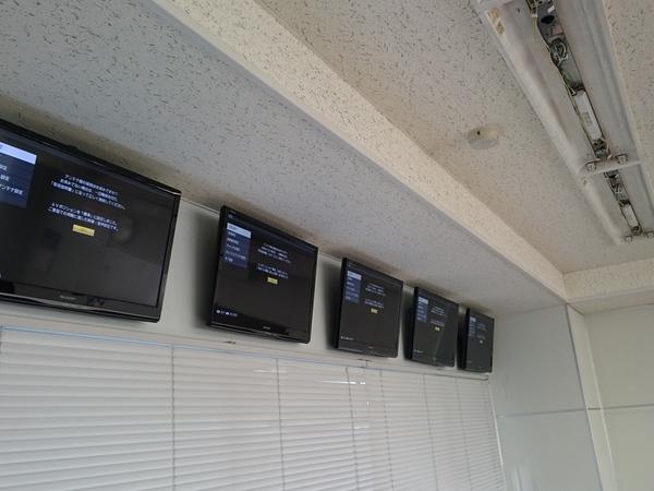 東京都江東区 会社ビルにて壁掛けテレビ工事