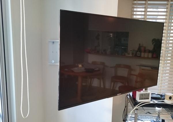 東京都新宿区にて壁掛けテレビ配線隠蔽工事のサムネイル