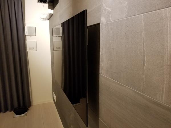 東京都葛飾区マンションにて 壁掛けテレビ 電源増設工事