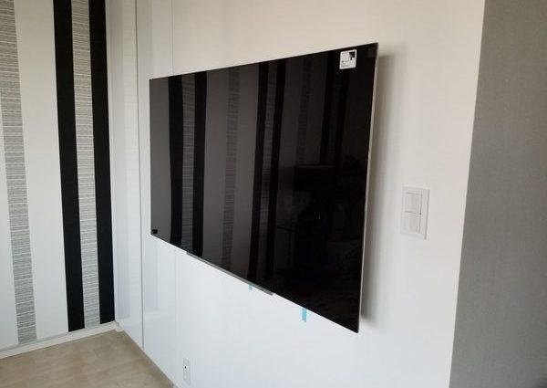 東京都江東区にて 壁掛けテレビ 配線隠蔽のサムネイル