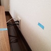 東京都港区にて 壁掛けテレビ 隠蔽配線工事のサムネイル