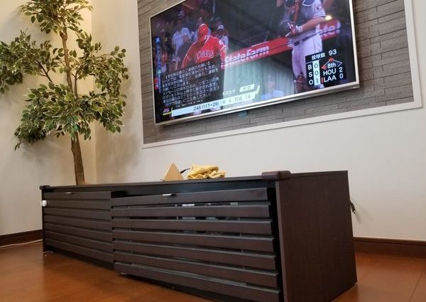 神奈川県横浜市にて 壁掛けテレビ・配線隠蔽のサムネイル