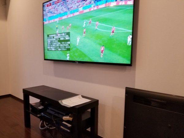 東京都中野区にて 壁掛けテレビ コンセント移設増設 補修