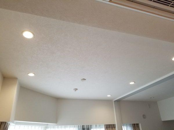 東京都渋谷区にて ダウンライト設置 壁掛けテレビ工事