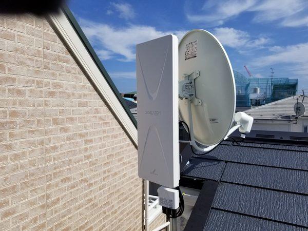 地デジ/BS/CSアンテナ工事 壁掛けテレビと同日設置