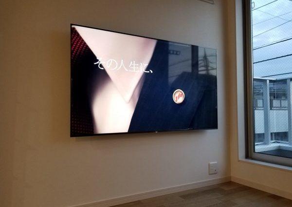 東京都杉並区戸建てにて 壁掛けテレビ工事写真のサムネイル
