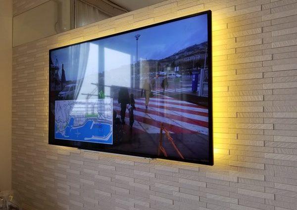 東京都武蔵野市にて 55型壁掛けテレビ工事のサムネイル