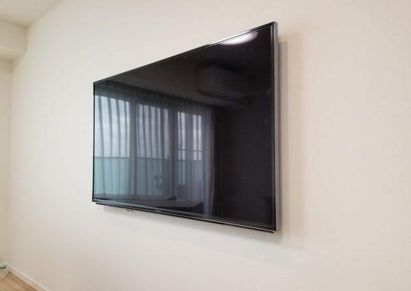 神奈川県川崎市にて 58型壁掛けテレビ工事のサムネイル