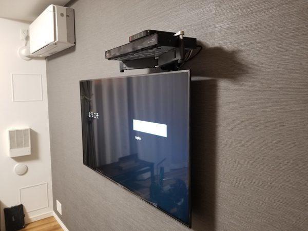 東京都練馬区にて壁掛けテレビ工事