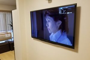 東京都江戸川区にて 壁掛けテレビ 施工事例