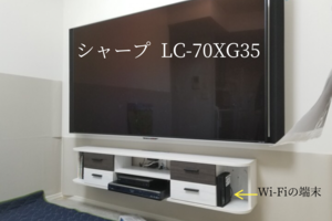東京都荒川区マンションにて   既存壁掛けテレビの配線隠蔽 コンセント増設工事