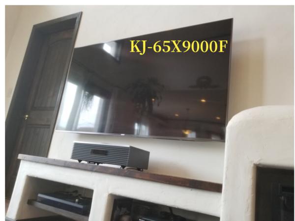 横浜市にて  壁掛けテレビ  SONYブラビアKJ-65X9000F 配線隠蔽